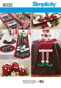 8032 Simplicity Pattern: Entertaining Accessories - Table Runners, Placemats, Gift Bags, Mini Stockings